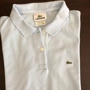 LACOSTE Light Blue slim Fit Polo Shirt Size 36 XS